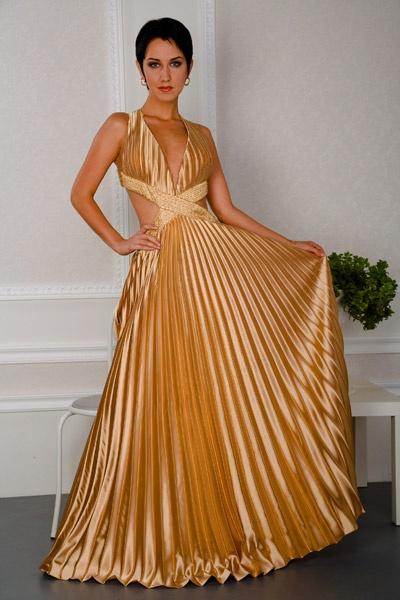 Платья В Золотых Тонах Фото
